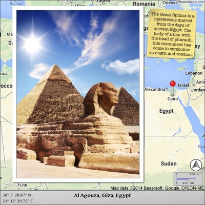 The Great Sphinx is a mysterious marvel from the days of ancient Egypt. The body of a lion with the head of pharaoh, this monument has come to symbolize strength and wisdom.