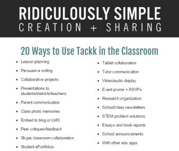 20 ways to use tackk