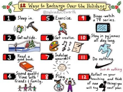 12 ways to recharge over the holidays