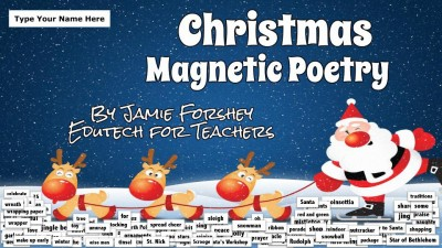 Christmas Magnetic Poetry
