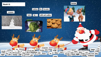 Copy of Christmas Magnetic Poetry - Noah Green