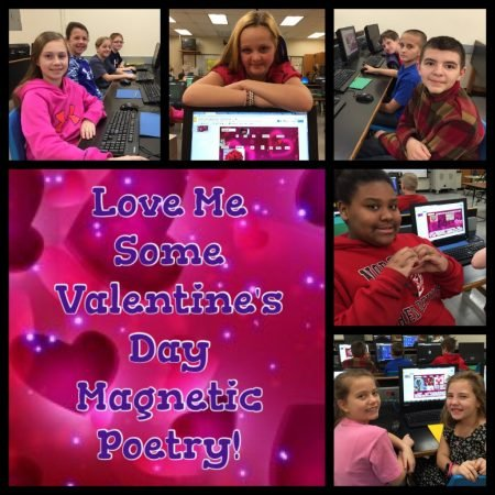 Valentine's Day Magnetic Poetry Collage