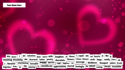 Valentine's Day Magnetic Poetry